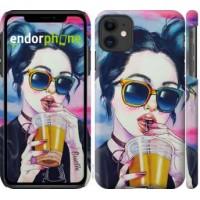 Чехол для iPhone 11 Арт-девушка в очках 3994m-1722