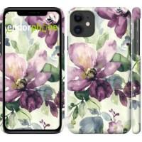 Чехол для iPhone 11 Цветы акварелью 2237m-1722