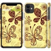 Чехол для iPhone 11 Красивые бабочки 4170m-1722