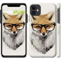 Чехол для iPhone 11 Лис в очках 2707m-1722