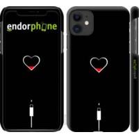 Чехол для iPhone 11 Подзарядка сердца 4274m-1722