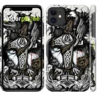 Чехол для iPhone 11 Тату Викинг 4098m-1722