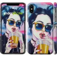 Чехол для iPhone X Арт-девушка в очках 3994m-1050