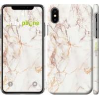 Чехол для iPhone X Белый мрамор 3847m-1050