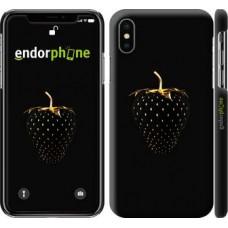 Чехол для iPhone X Черная клубника 3585m-1050