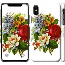 Чехол для iPhone X Цветы 2 4760m-1050