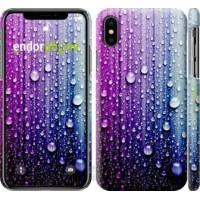 Чехол для iPhone X Капли воды 3351m-1050