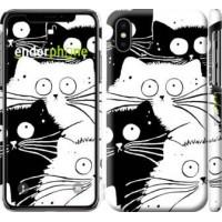 Чехол для iPhone X Коты v2 3565m-1050