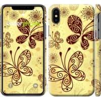 Чехол для iPhone X Красивые бабочки 4170m-1050