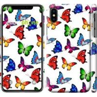 Чехол для iPhone X Красочные мотыльки 4761m-1050