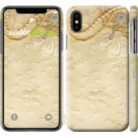 Чехол для iPhone X Кружевной орнамент 2160m-1050