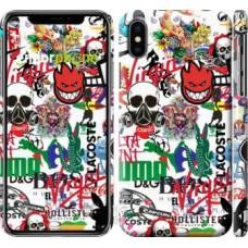 Чехол для iPhone X Many different logos 4022m-1050