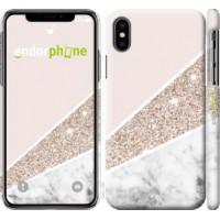 Чехол для iPhone X Пастельный мрамор 4342m-1050