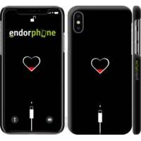 Чехол для iPhone X Подзарядка сердца 4274m-1050