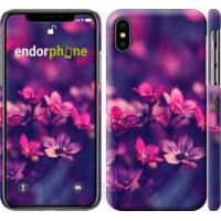 Чехол для iPhone X Пурпурные цветы 2719m-1050