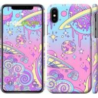 Чехол для iPhone X Розовая галактика 4146m-1050