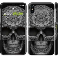 Чехол для iPhone X skull-ornament 4101m-1050