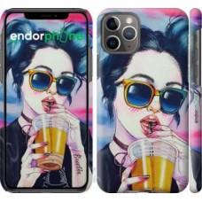 Чехол для iPhone 11 Pro Арт-девушка в очках 3994c-1788