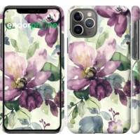 Чехол для iPhone 11 Pro Цветы акварелью 2237c-1788