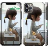 Чехол для iPhone 11 Pro Милая девочка с зайчиком 4039c-1788