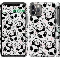 Чехол для iPhone 11 Pro Панды 4318c-1788