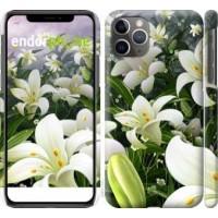 Чехол для iPhone 11 Pro Max Белые лилии 2686m-1723