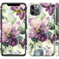 Чехол для iPhone 11 Pro Max Цветы акварелью 2237m-1723