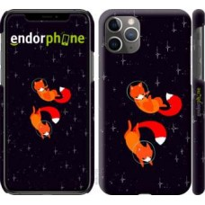 Чехол для iPhone 11 Pro Max Лисички в космосе 4519m-1723