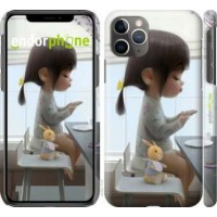 Чехол для iPhone 11 Pro Max Милая девочка с зайчиком 4039m-1723