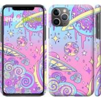 Чехол для iPhone 11 Pro Max Розовая галактика 4146m-1723