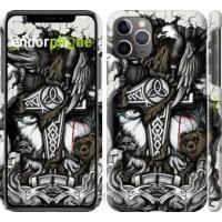 Чехол для iPhone 11 Pro Max Тату Викинг 4098m-1723