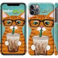Чехол для iPhone 11 Pro Max Зеленоглазый кот в очках 4054m-1723