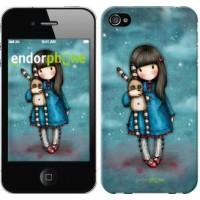 Чехол для iPhone 4 Девочка с зайчиком 915c-15