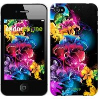 Чехол для iPhone 4 Абстрактные цветы 511c-15