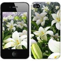 Чехол для iPhone 4 Белые лилии 2686c-15