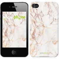Чехол для iPhone 4s Белый мрамор 3847c-12