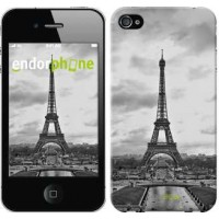 Чехол для iPhone 4s Чёрно-белая Эйфелева башня 842c-12
