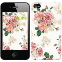 Чехол для iPhone 4s цветочные обои v1 2293c-12