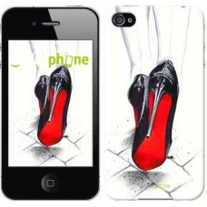 Чехол для iPhone 4 Devil Wears Louboutin 2834c-15