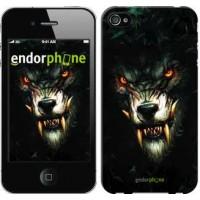 Чехол для iPhone 4 Дьявольский волк 833c-15