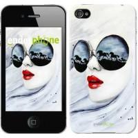 Чехол для iPhone 4s Девушка акварелью 2829c-12