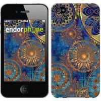 Чехол для iPhone 4s Золотой узор 678c-12