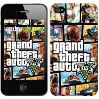 Чехол для iPhone 4 GTA 5. Collage 630c-15