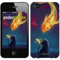 Чехол для iPhone 4s Кошкин сон 3017c-12