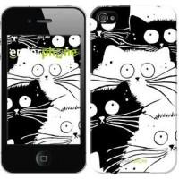 Чехол для iPhone 4 Коты v2 3565c-15