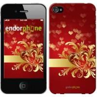 Чехол для iPhone 4s Ажурные сердца 734c-12
