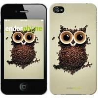 Чехол для iPhone 4s Сова из кофе 777c-12