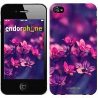 Чехол для iPhone 4 Пурпурные цветы 2719c-15