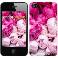 Чехол для iPhone 4s Розовые пионы 2747c-12