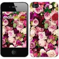 Чехол для iPhone 4 Розы и пионы 2875c-15